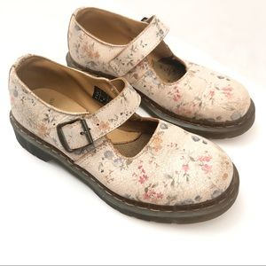 Dr. Martens Limited Cracked Floral Mary Janes